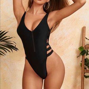 black one piece bathing suit